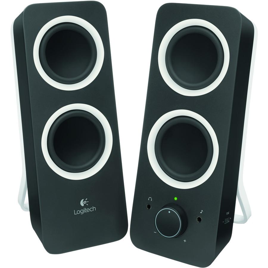 Logitech Sistema de alto-falantes Logitech Z200 2.0 - Preto