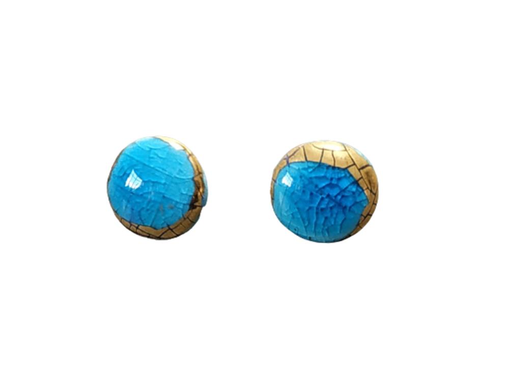 Pendientes Azul/ Oro