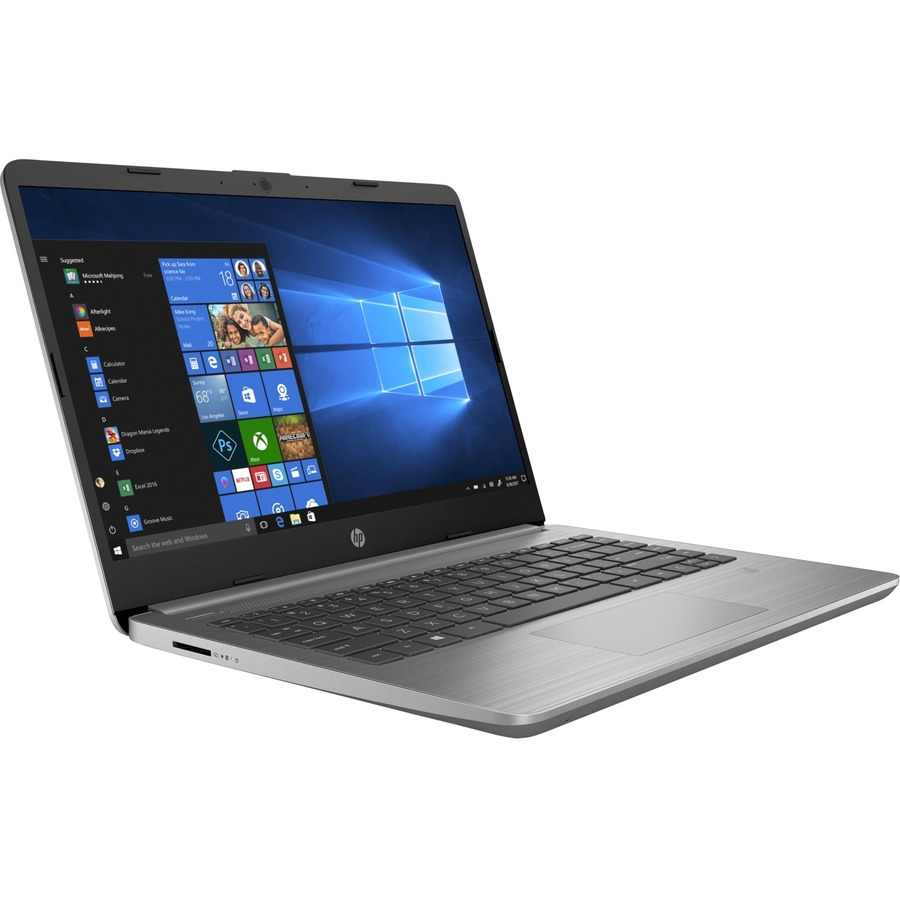 "HP Inc. Laptop - HP 340s G7 35.6cm (14"") - 1920 x 1080 - Intel Core i5 (10ª Geração) i5-1035G1 Quad-core (4 Core) 1 GHz - 8GB RAM - 256GB SSD - Ash Silver"