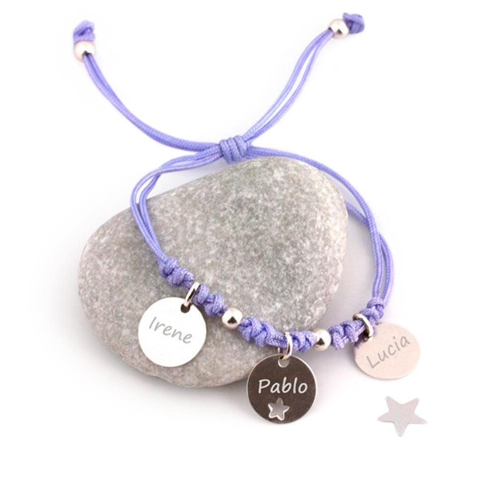 Hechizo de Plata Bracelet with 3 children's name for mom