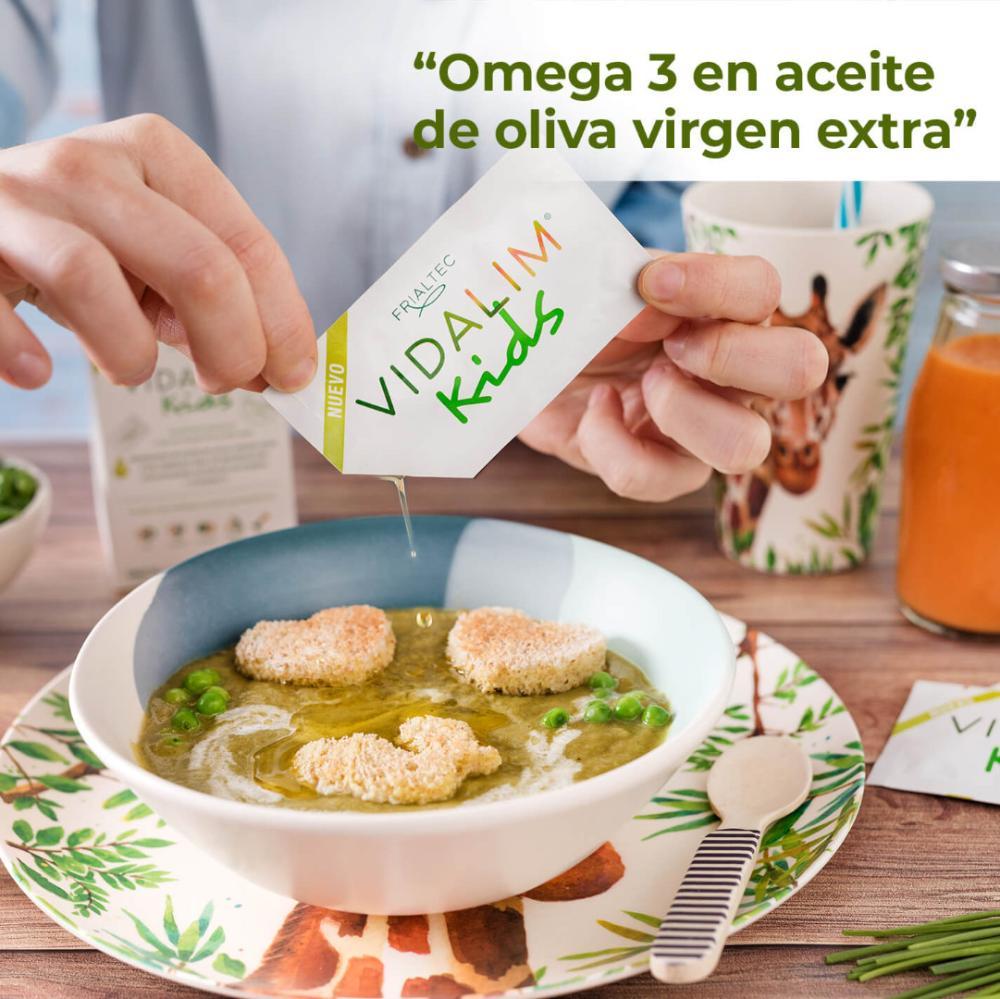 Omega 3 DHA en AOVE. Vidalim Kids
