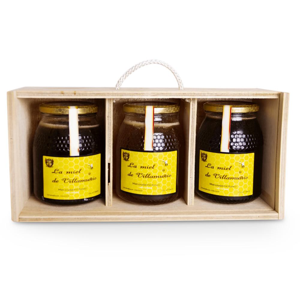 Caja madera miel - 1x3 kg