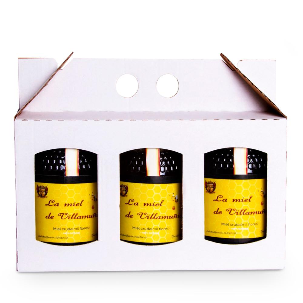 Caja miel - Caja 3x500 gr