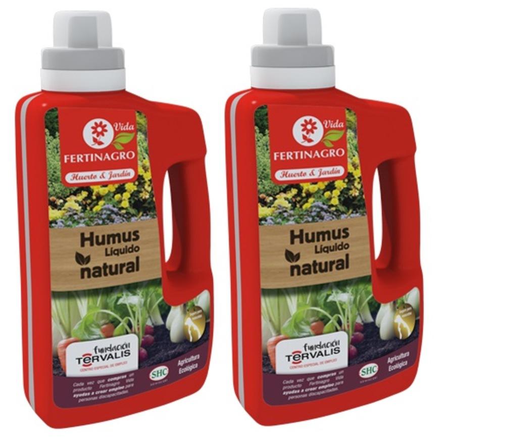 Lote de 2 unidades de Humus líquido natural ecológico de 1 litro