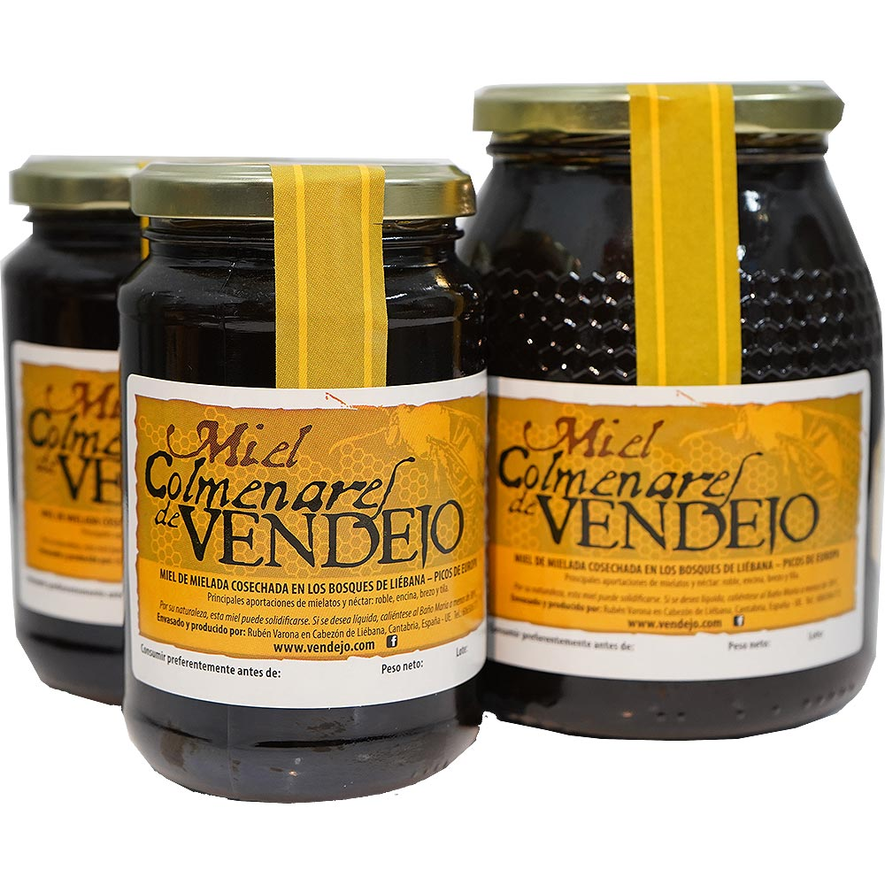 PACK AHORRO. Miel de bosque – Miel de Liébana, Cantabria. 2 tarros de kg y 2 tarros de 1/2 kg