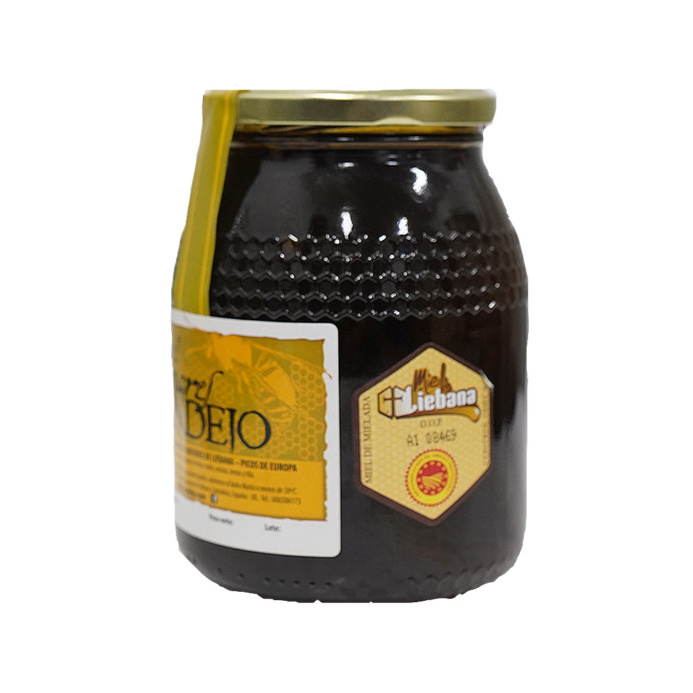 Tarro de 1 kilogramo de miel de bosque Colmenares de Vendejo, miel de Liébana, Cantabria