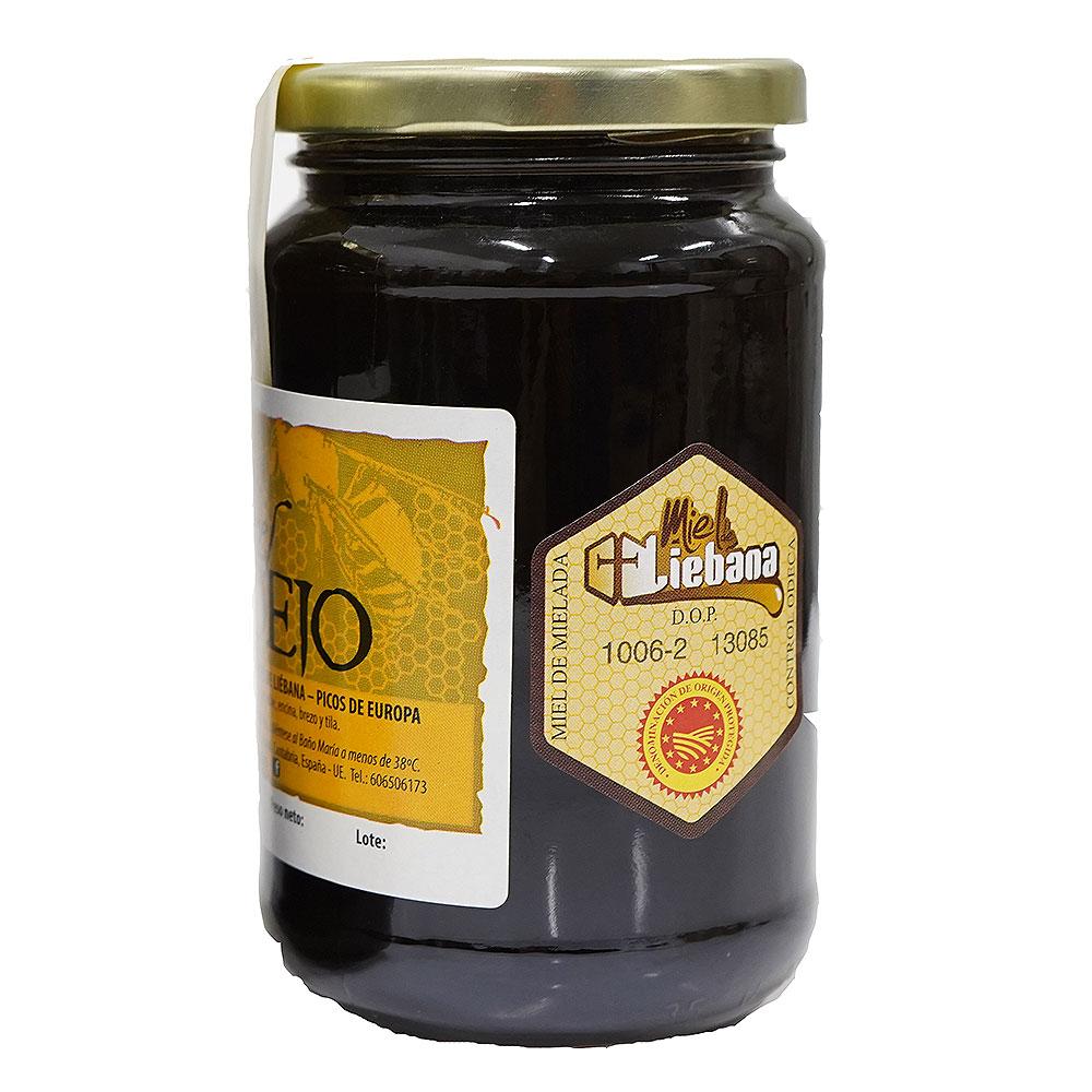 Tarro de medio kilogramo de miel de bosque Colmenares de Vendejo, miel de Liébana, Cantabria