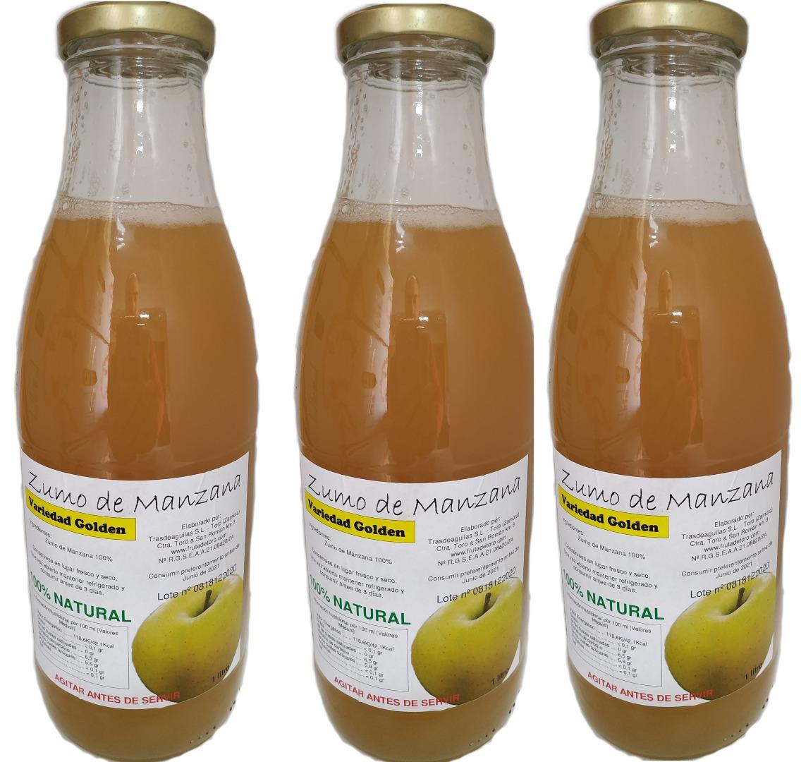 Villaveza Fruta de Toro Zumo Natural de Manzana Golden - 3 botellas x1 l