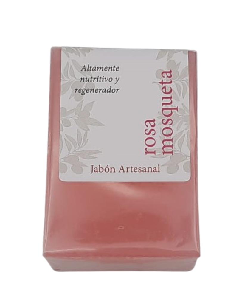 Jabón artesanal de aceite de oliva virgen extra y rosa mosqueta