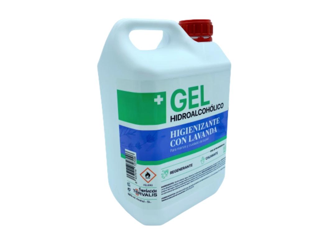 Fertinagro Vida Hydroalcoholic gel sanitizing with organic lavender essential oil (80%vol.alcohol) 1 units x 5 liters