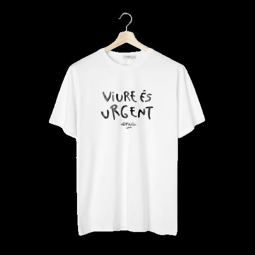 Vivir es Urgente. Pau's T-Shirt - Woman - Catalan - Canary Islands