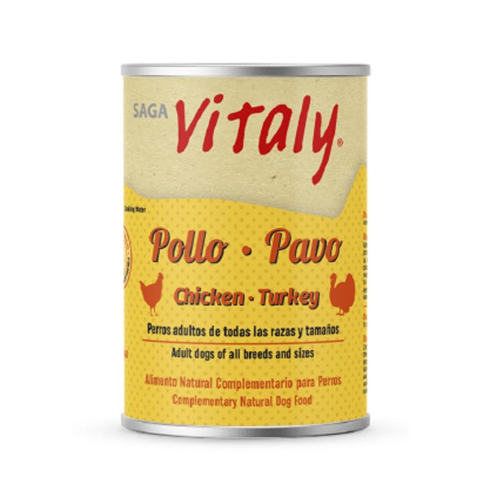 VITALY POLLO – PAVO 400 G Comida Húmeda Natural para Perros