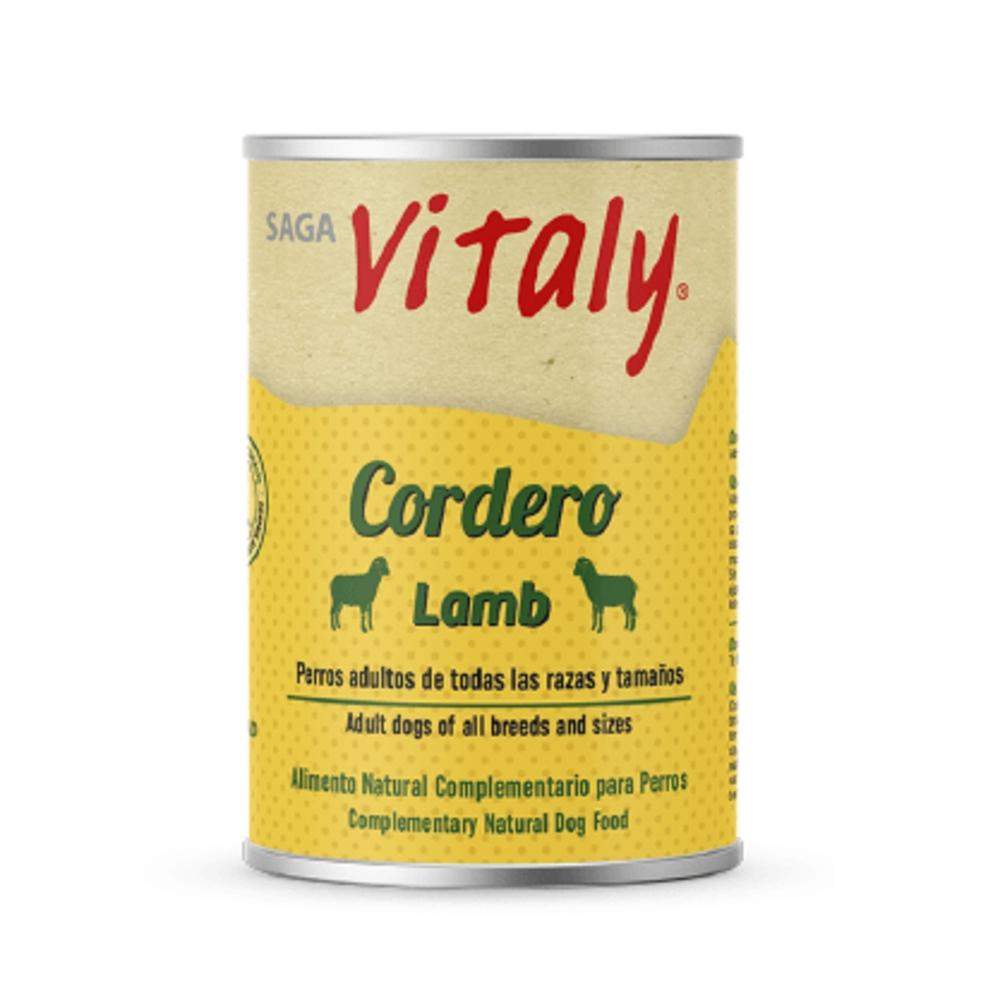 VITALY CORDERO 400 G Comida Húmeda Natural para Perros