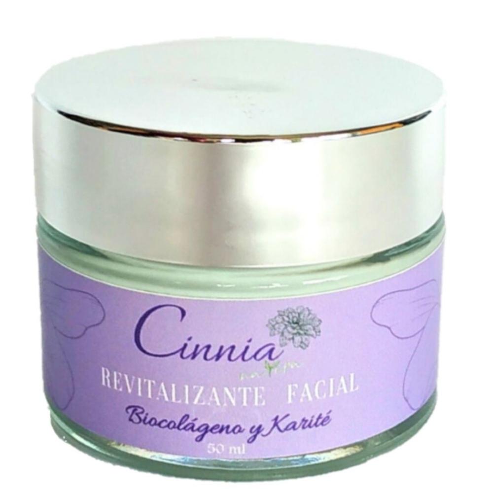 Cinnia Natura Crema Facial Revitalizante Natural con Biocolágeno y Manteca de Karité 50 ml