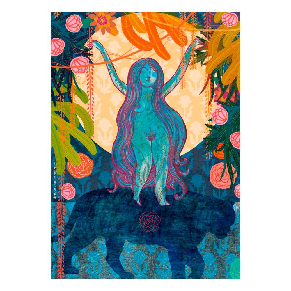 Lámina diosa Durga tamaño A5