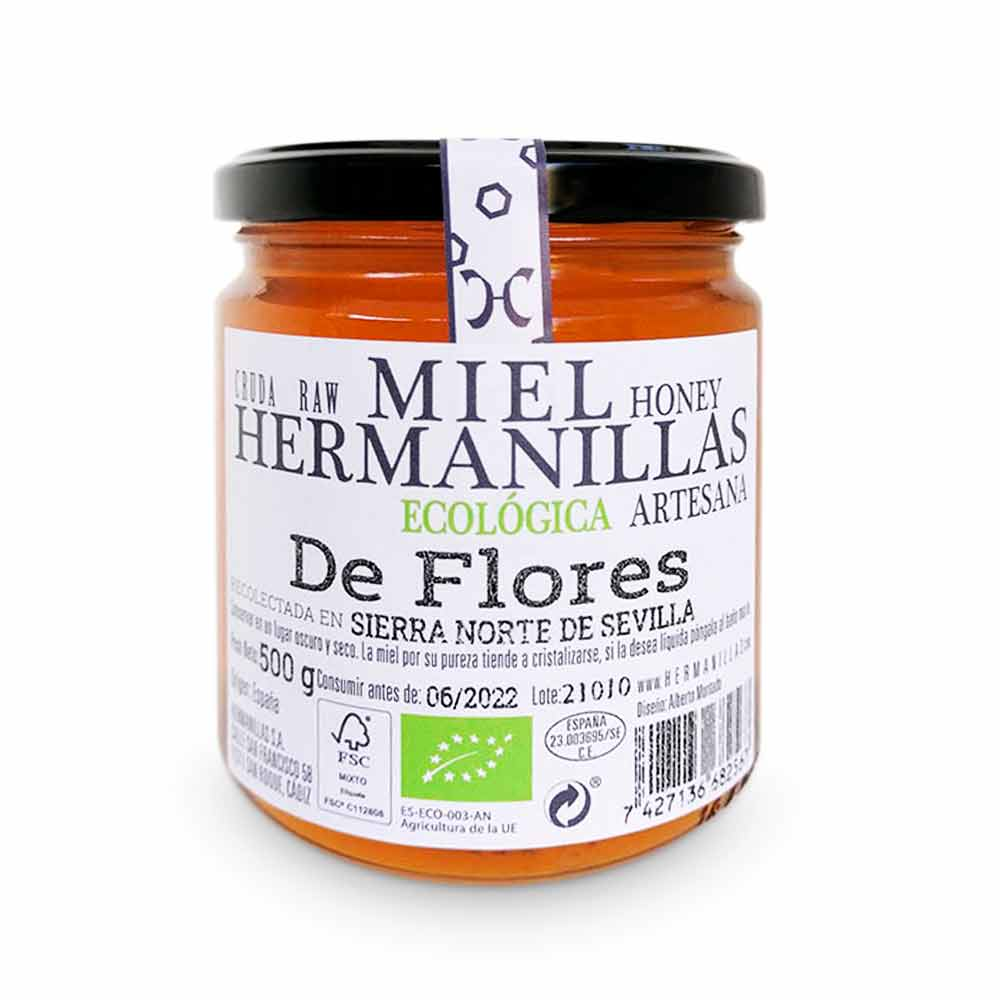 Hermanillas 500 Organic, Raw, Artisan Honey, from Flores Hermanillas