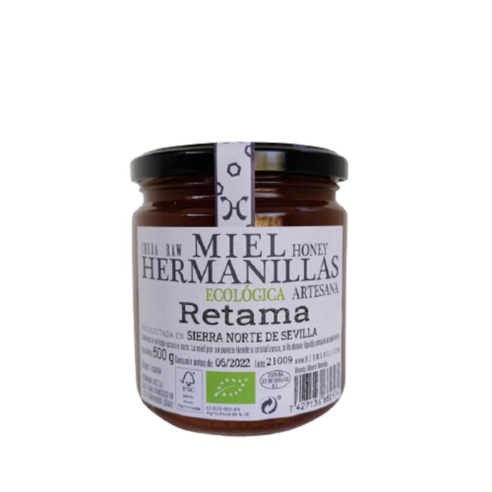 500 Miel Ecológica, Cruda, Artesana, de Retama