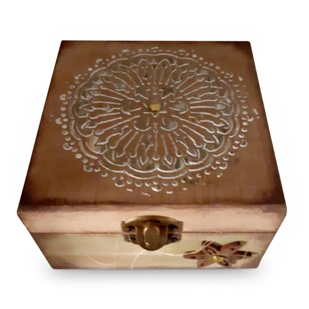 Bambú Green mandala box + massage candle