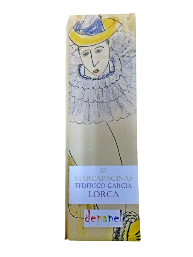 Estuche de 10 marcapáginas con dibujos de Federico García Lorca