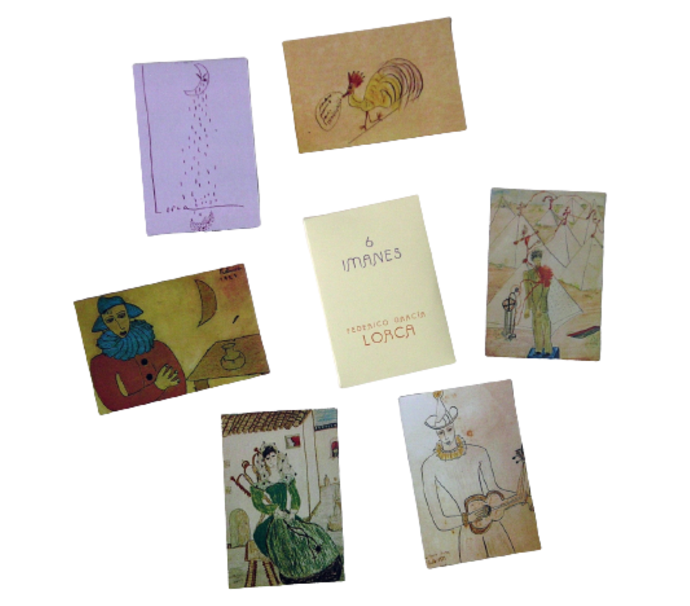 Estuche 6 imanes con dibujos de Federico García Lorca