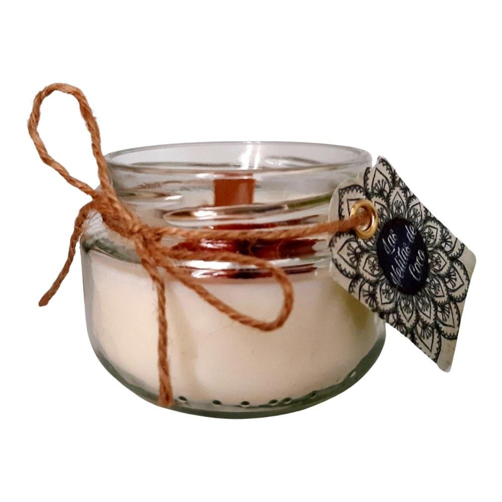 Vela de Soja con canela y naranja natural