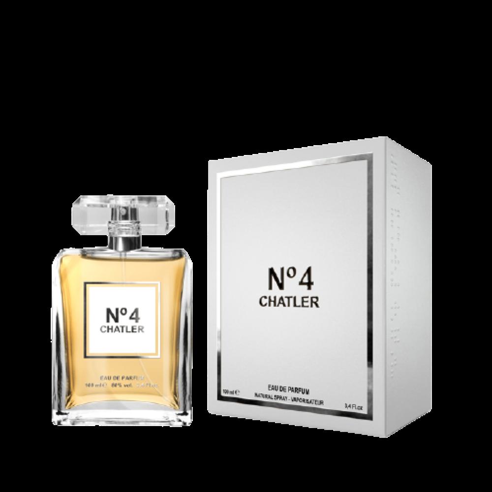 LOTE 2 frascos Nº4 CHATLER PARA MUJER 100 ML
