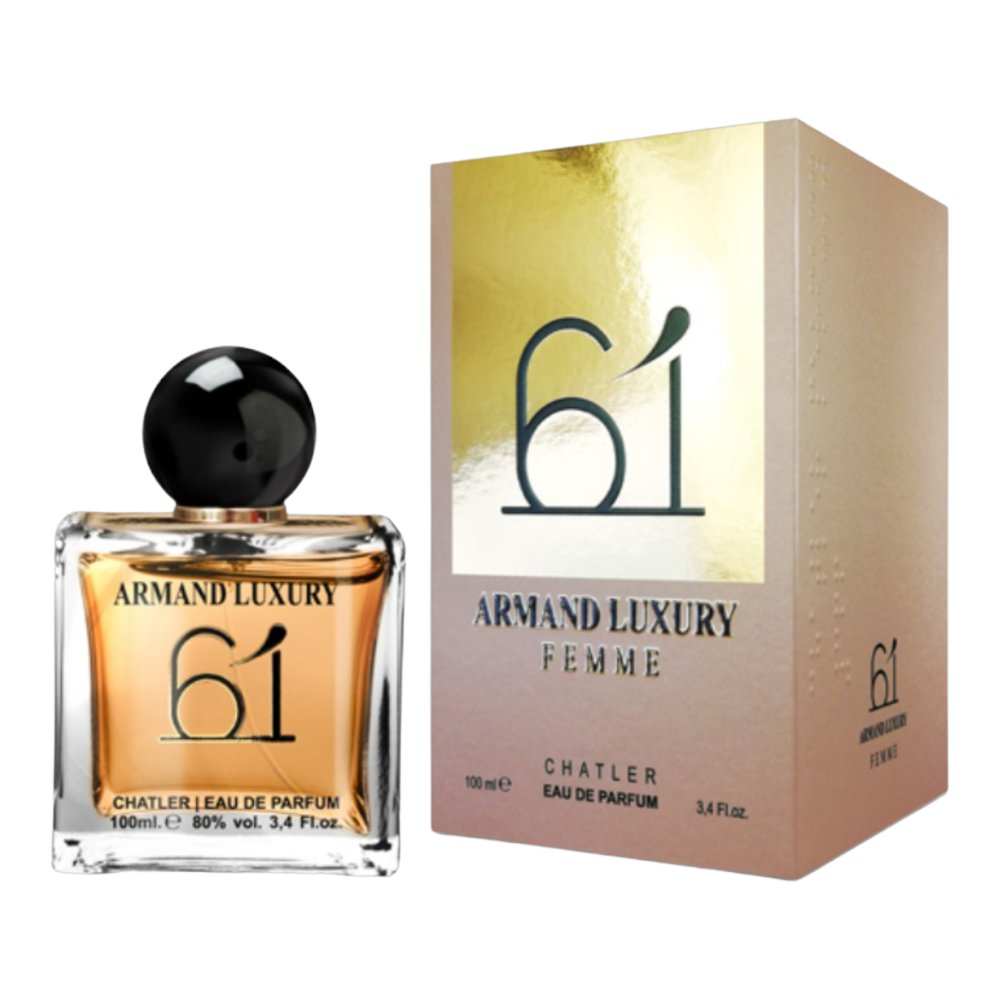 LOTE 2 frascos ARMAND LUXURY 61 CHATLER PARA MUJER 100 ML