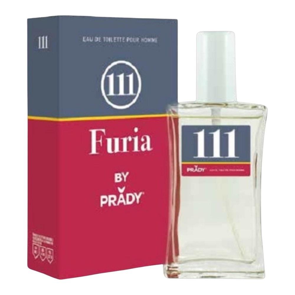 LOTE 6 frascos FURIA Nº111 PRADY PARA HOMBRE 100 ML