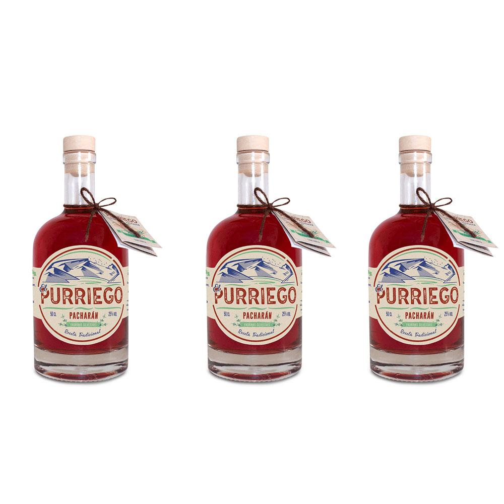 Pacharán artesanal - Pack de 3 botellas de 50 cl