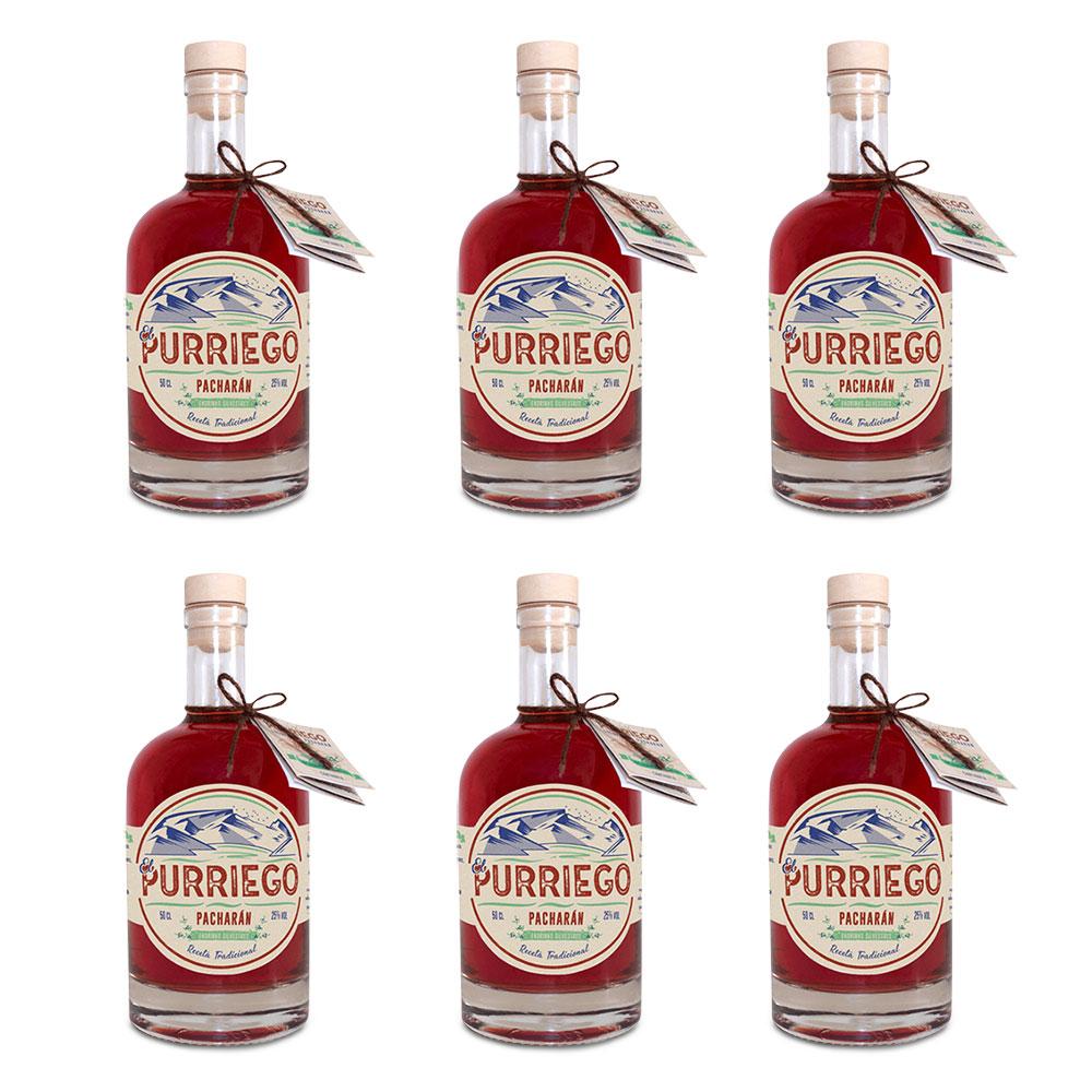 Pacharán artesanal - Pack de 6 botellas de 50 cl