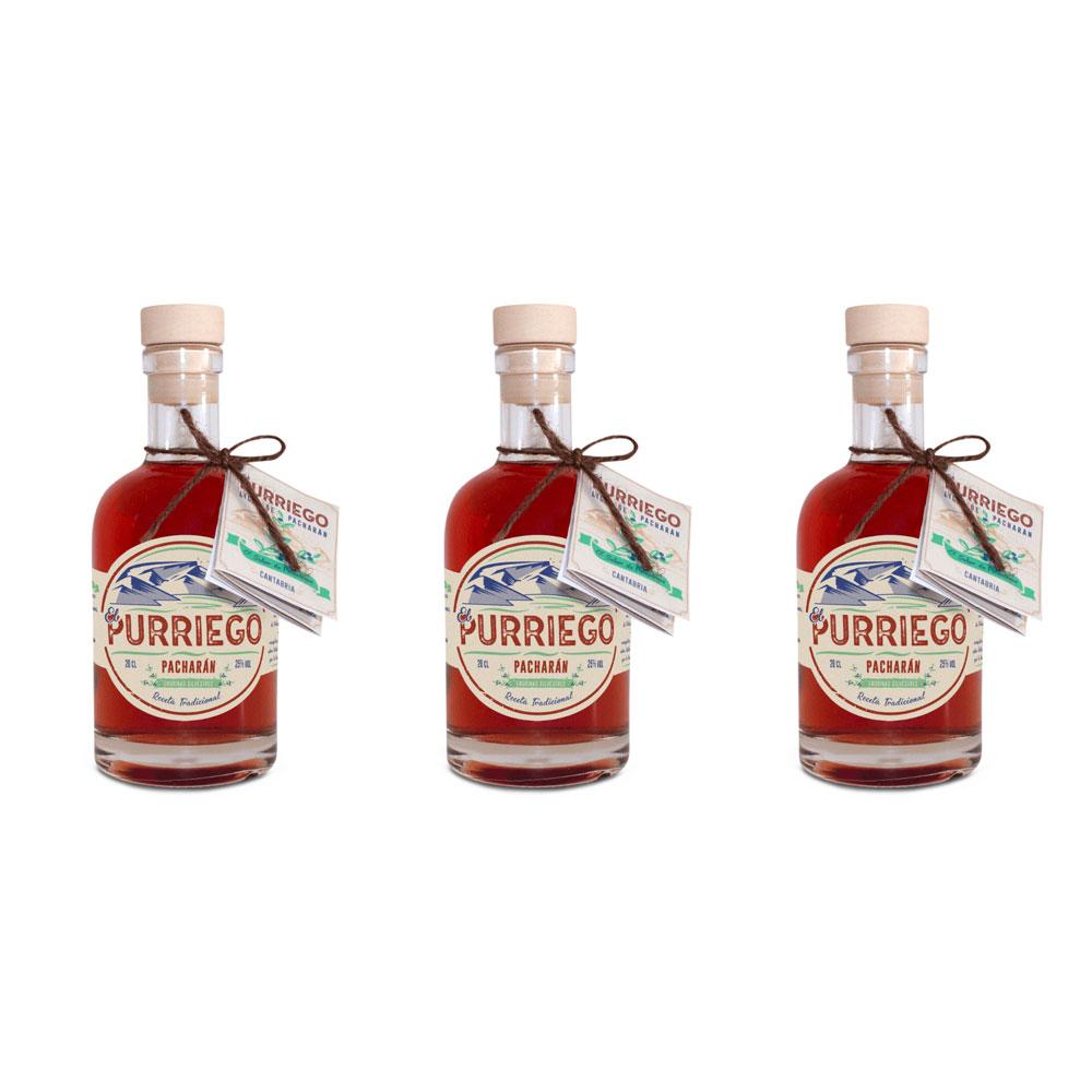 Pacharán artesanal - Pack de 3 botellas de 20 cl