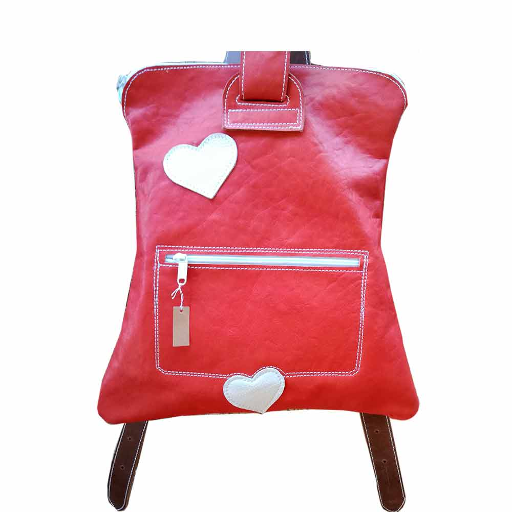 Mabelcuero Taller Artesano Backpack with zipper. Mod. Delhi