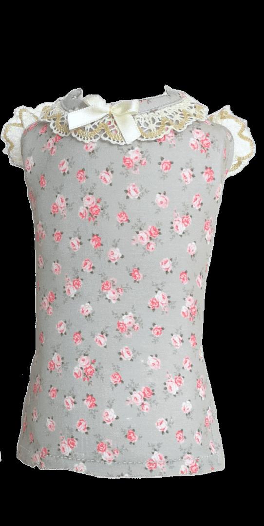 Camiseta Rose color gris