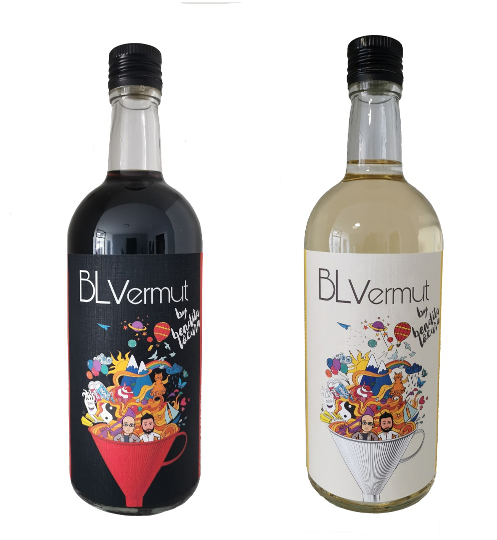 Pack 2 botellas vermut rojo y blanco