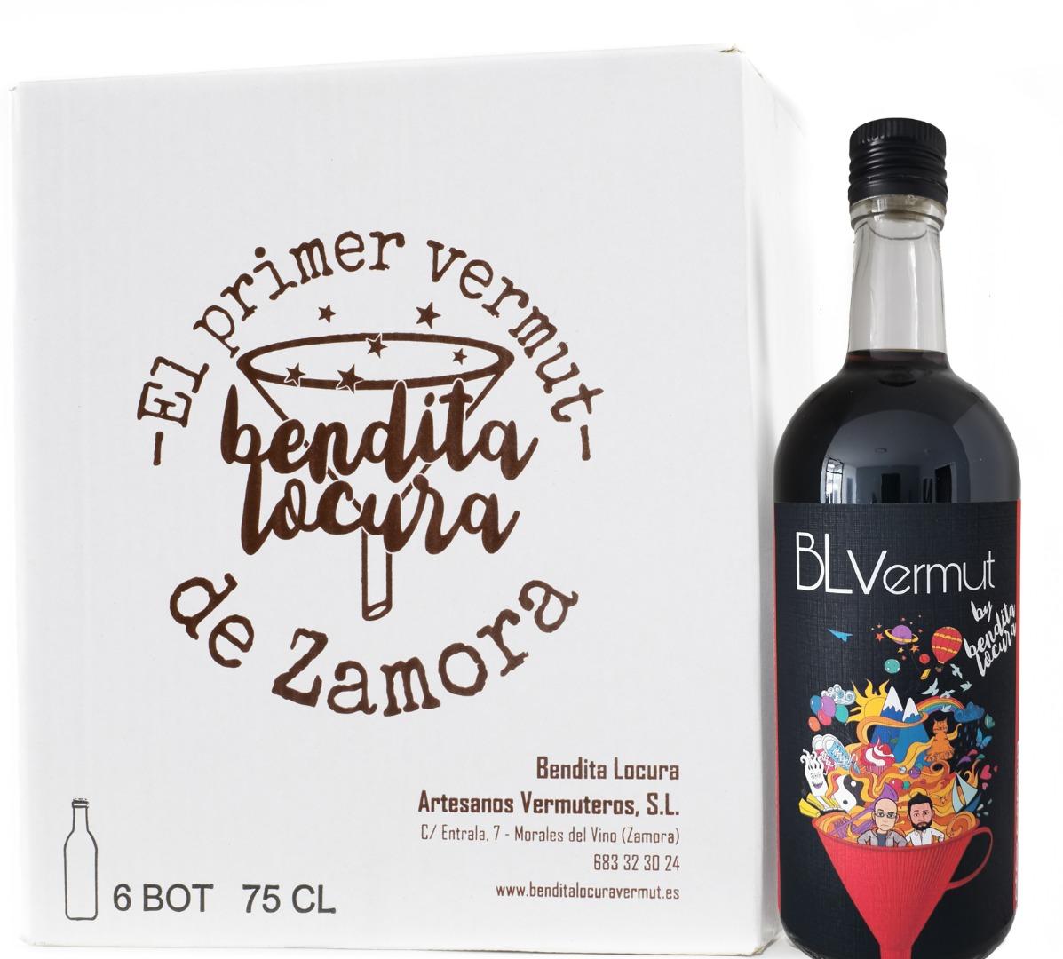 Caja de 6 botellas vermut rojo de 70 cl