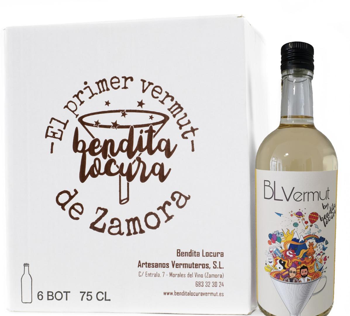 Caja de 6 botellas de vermut blanco 70 cl