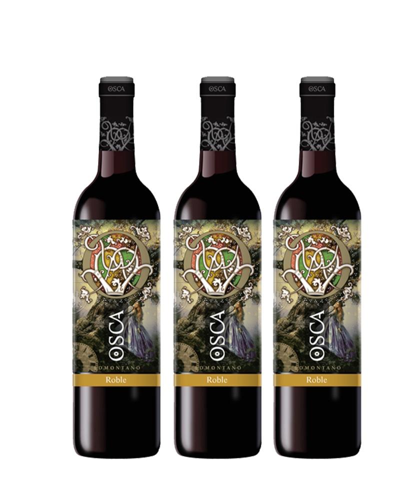 Vino Osca Roble caja 3 botellas