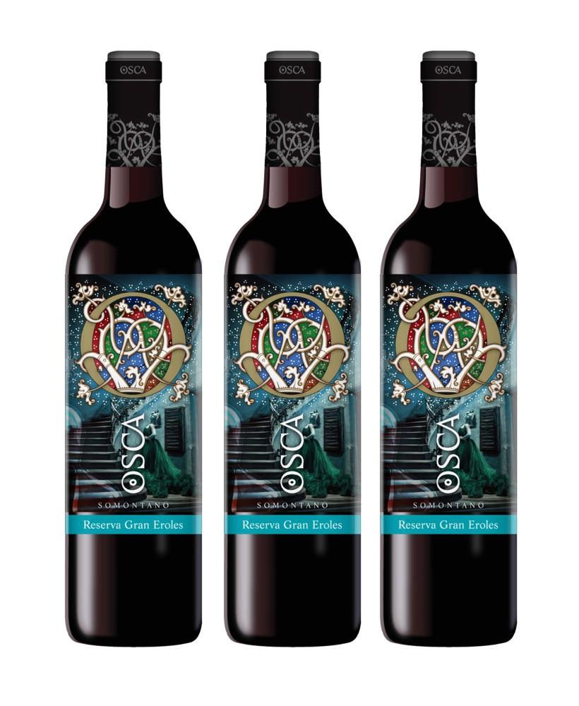 Vino Reserva Osca Gran Eroles caja 3 botellas