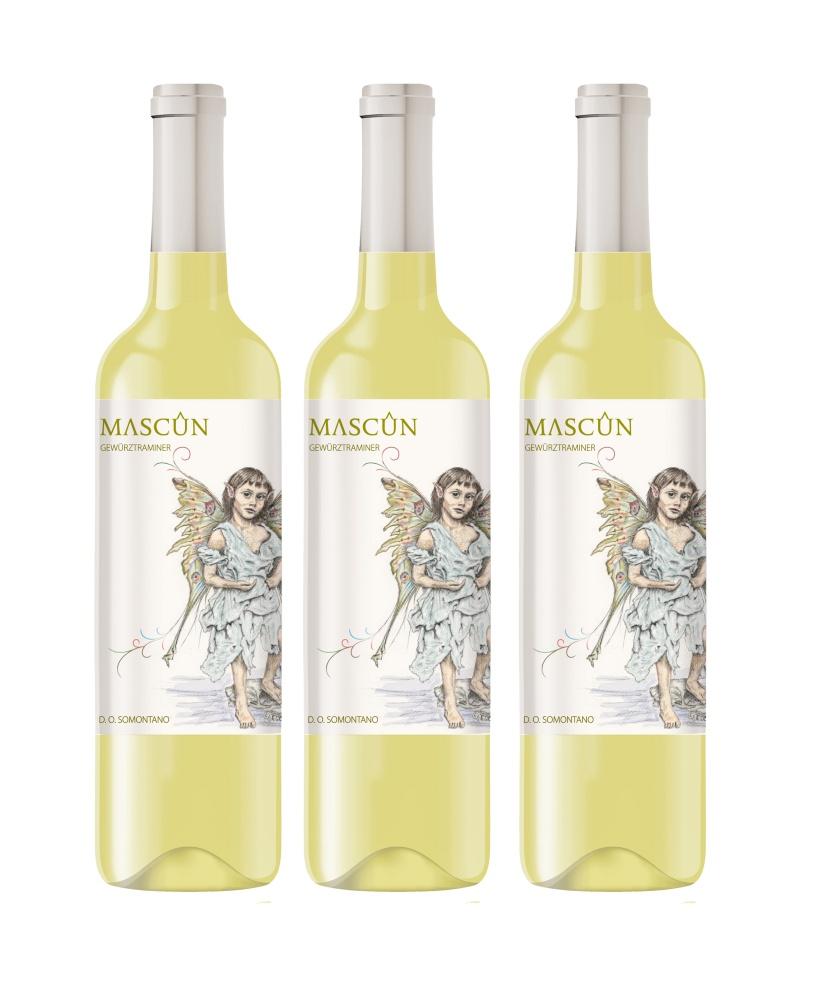 Vino Blanco Mascún Gewürztraminer Caja de 3 botellas
