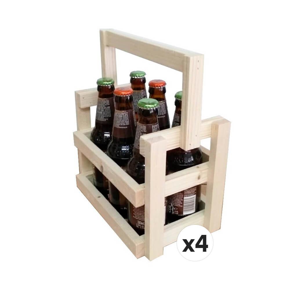 """Lote 4 cestas """"Sara"""" para 6 cervezas"""