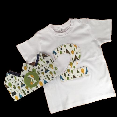 Pack ¡Feliz Cumpleaños!  Corona + Camiseta con Número