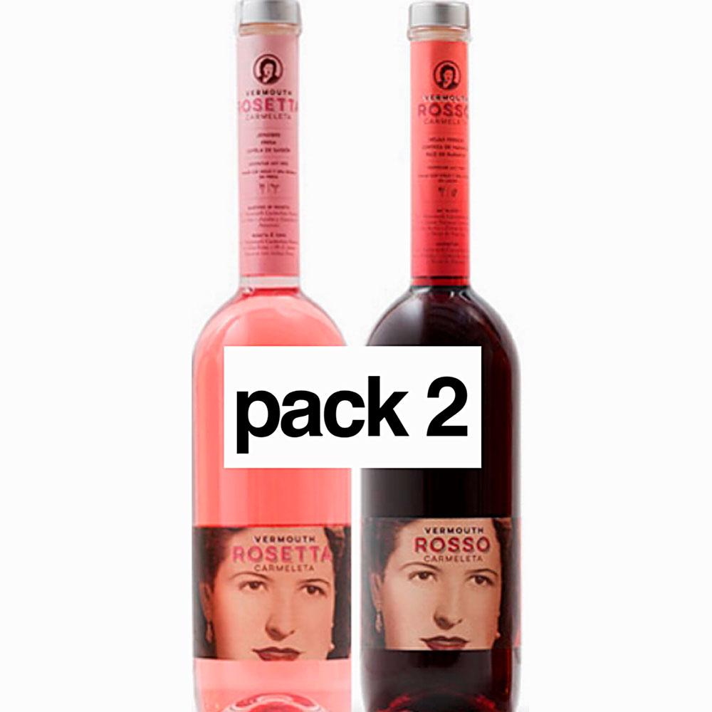 Carmeleta Pack 2 Vermouth 75cl Rosseta,Rosso