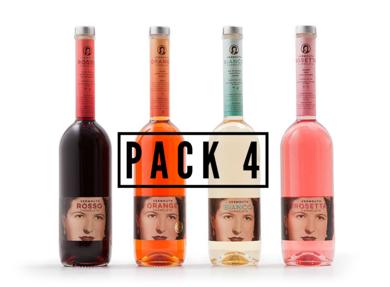 Carmeleta Pack of 4 Vermouths 75cl.