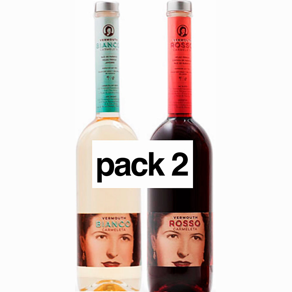 Carmeleta Pack of 2 Vermouths 75cl White,Rosso