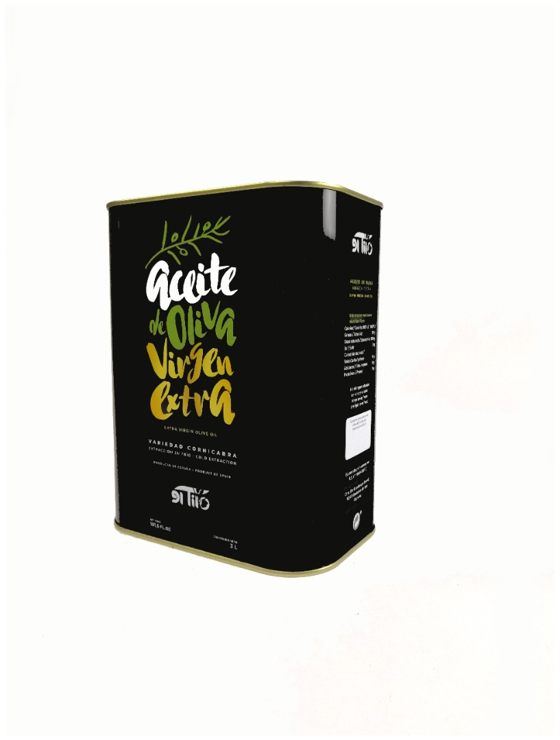 Aceites El Tilo Extra Virgin Oil Can 3 Litres
