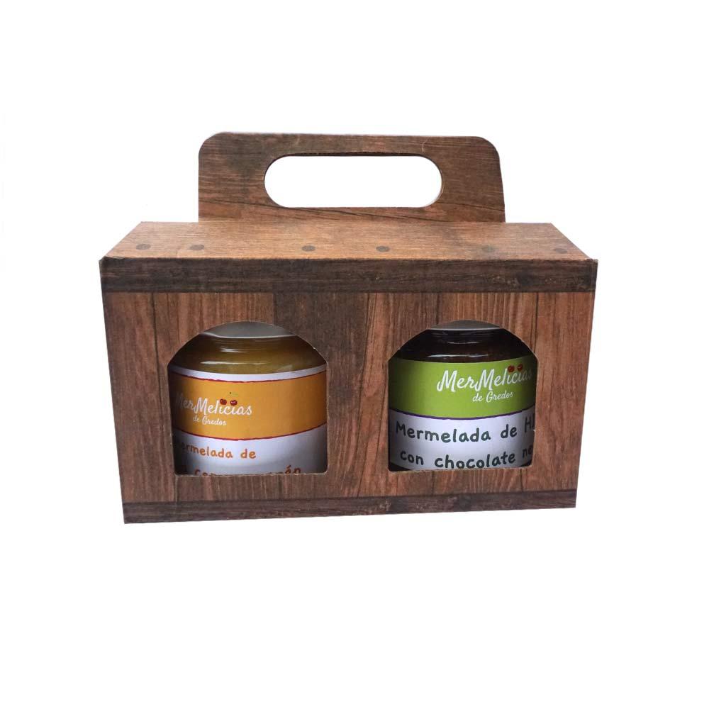 Mermelicias de Gredos Geleia artesanal, caixas de 2 potes de 250g cada
