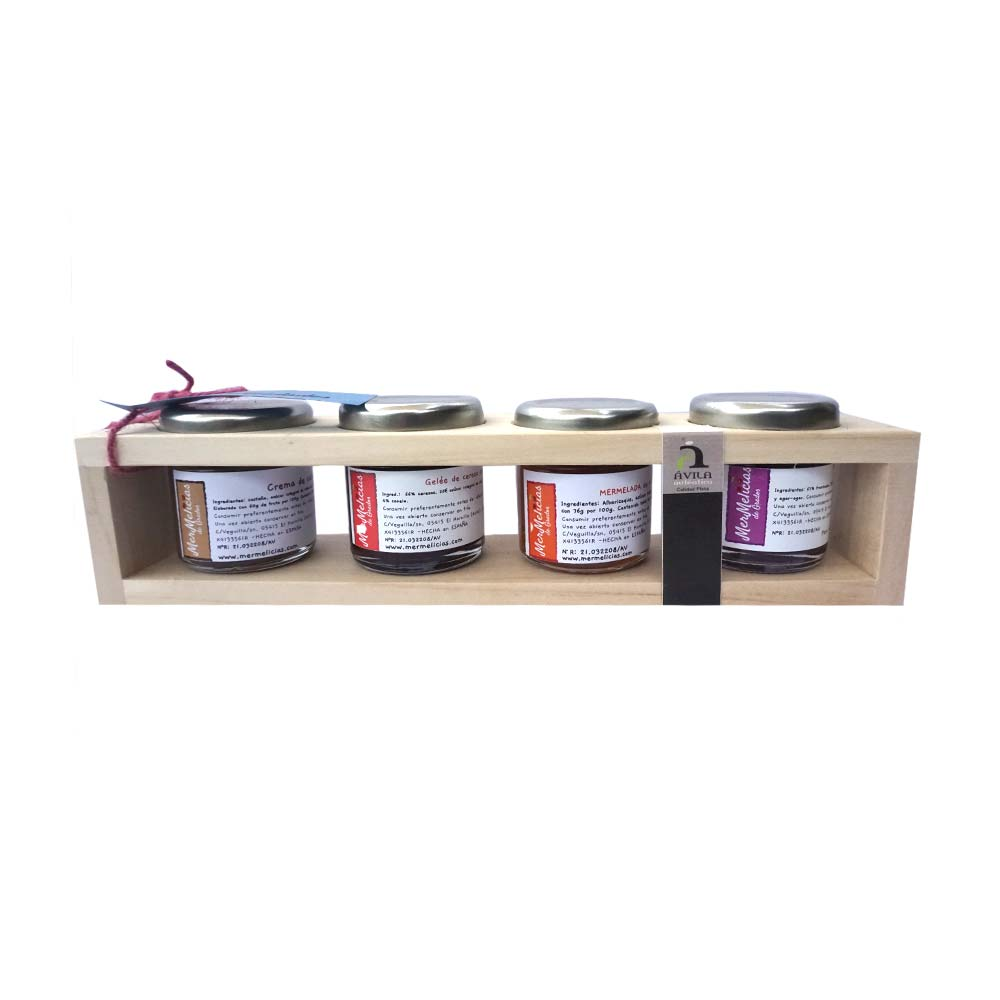 Mermelicias de Gredos Handcrafted jam, boxes of 4 jars of 50g each
