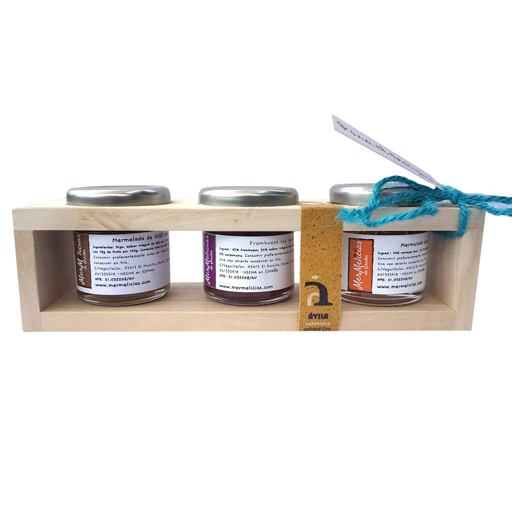 Mermelicias de Gredos Geleia artesanal, caixas de 3 potes de 50g cada