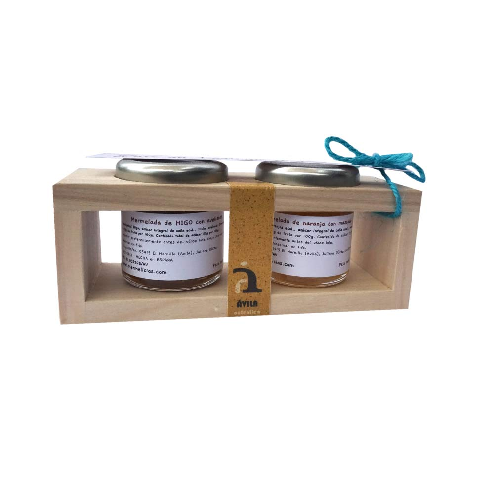 Mermelicias de Gredos Handcrafted jam, boxes of 2 jars of 50g each