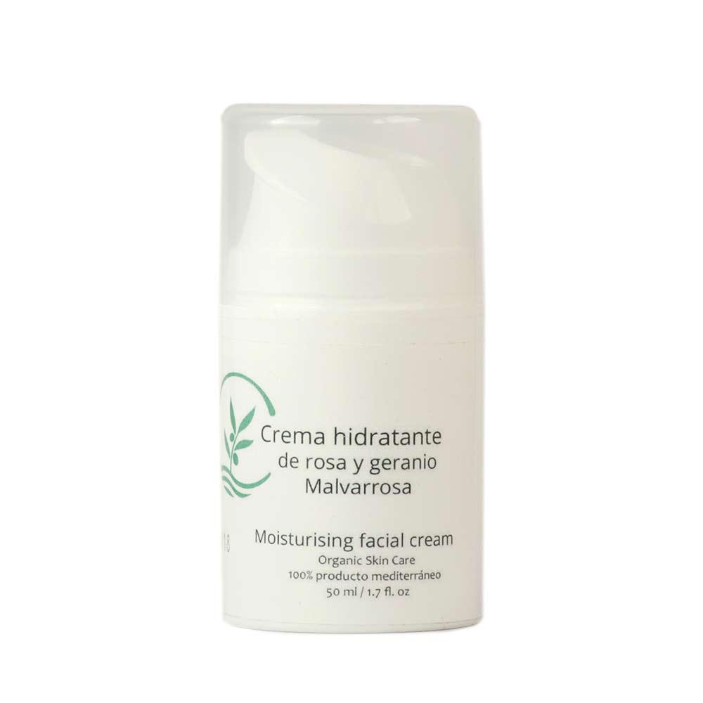 Crema hidratante de Rosa y Geranio - 50 ml